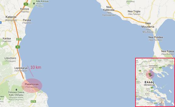 mapa grcke meteori Utisci sa letovanja u Grčkoj – Platamon, Nei Pori, Leptokarija mapa grcke meteori